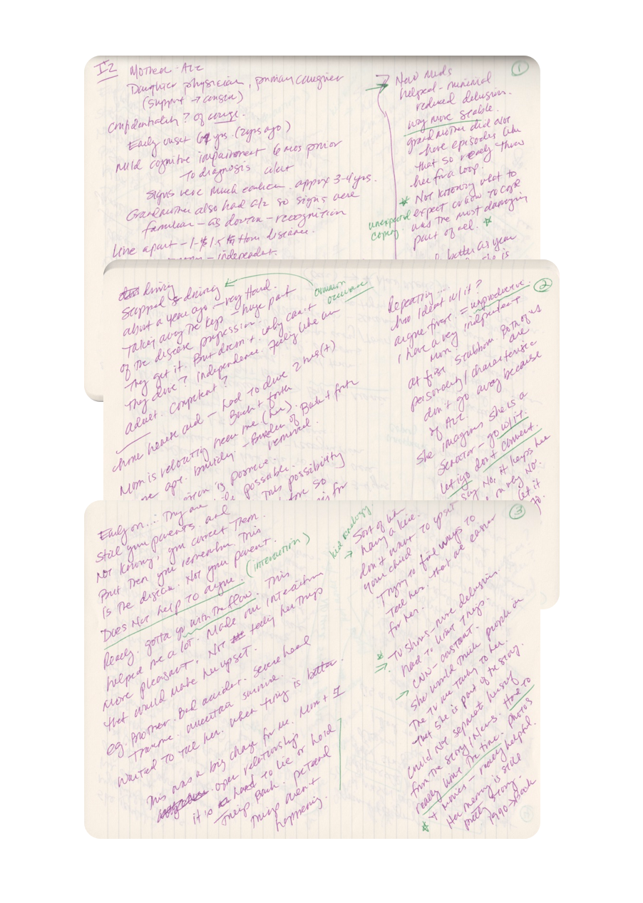 intervew notes sample