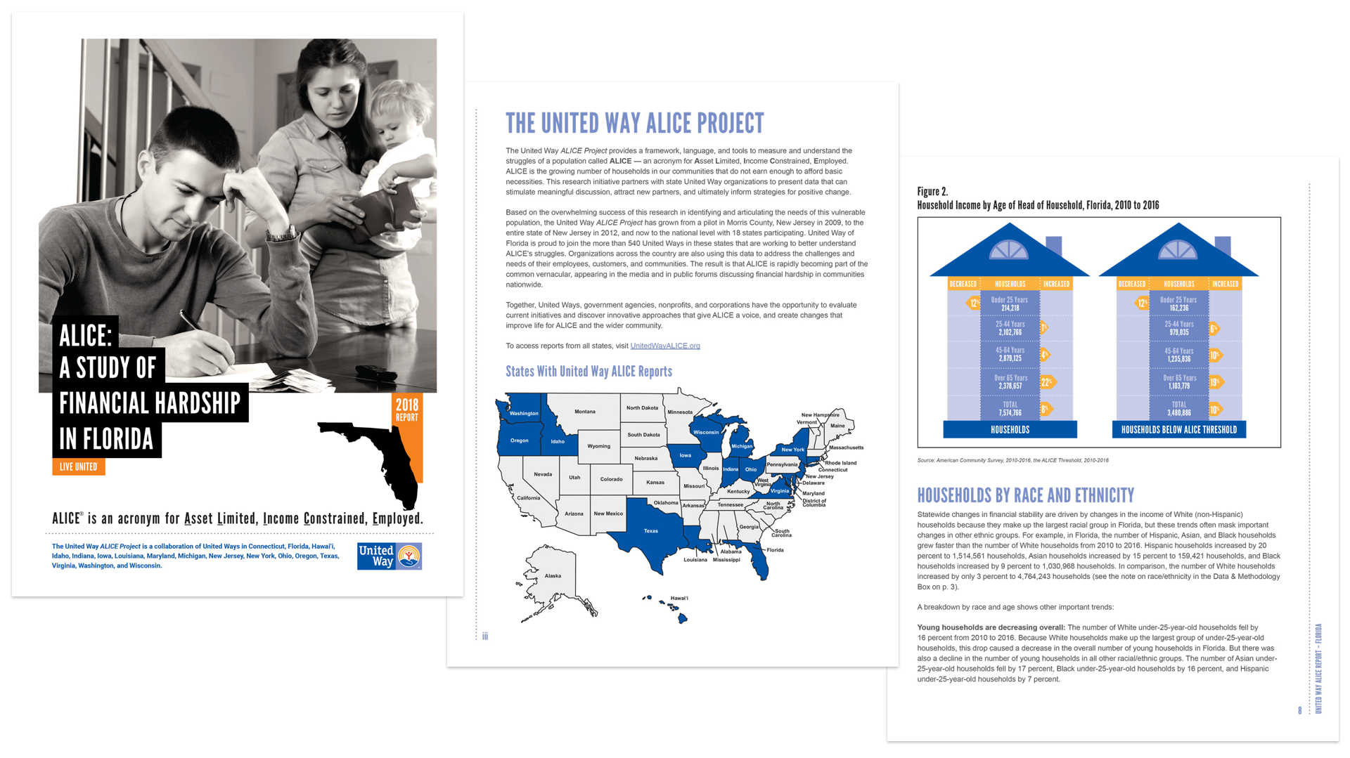 Sample pages from 2019 ALICE report