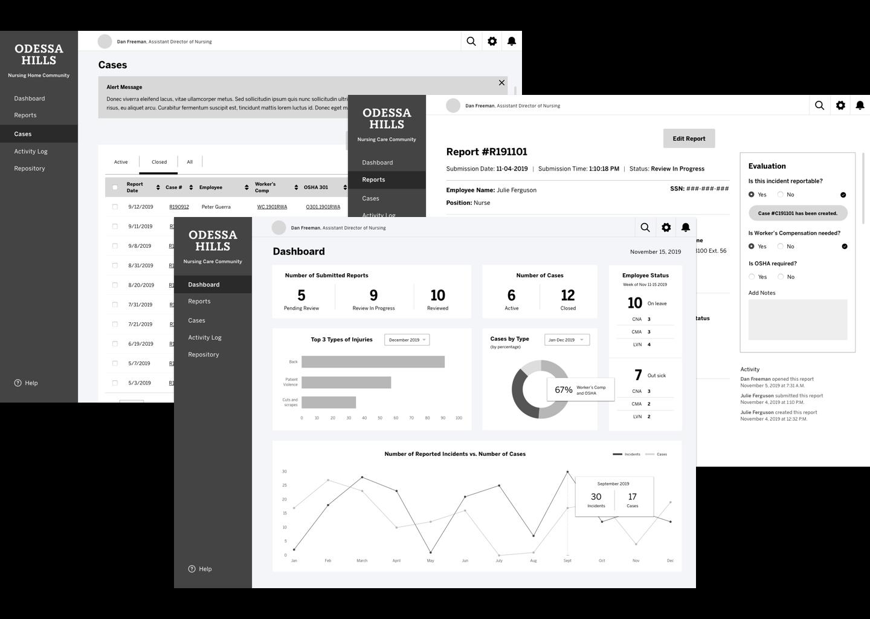 reportingSystem-wireframes